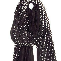 Mii foulard hiver Bubbles laine noir