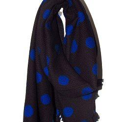 Mii foulard hiver en laine Pois Marine