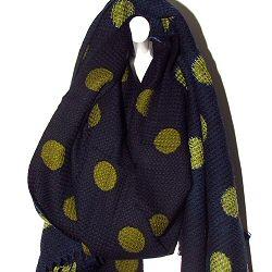 Mii foulard hiver en laine Pois Vert