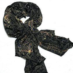 Mii foulard en soie Paisley World galaxies tiss� main