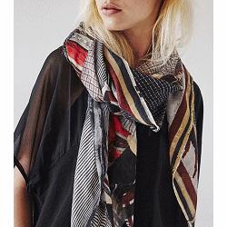 Mii foulard laine fluide ocre Rouleaux