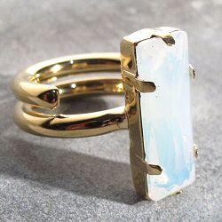 Mimilamour bague Ressort Opaline cristal swarovski