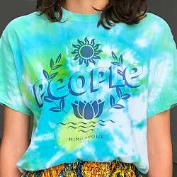 Mimilamour Tee shirt tie & dye Lotus PEOPLE bleu