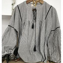 My Sunday Morning blouse rayure black stripe Joshua