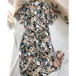 My Sunday Morning robe Debra imprime Rainforest