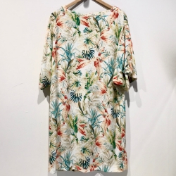 My Sunday Morning robe Yana Island print
