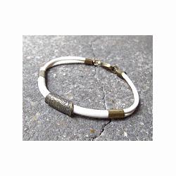 Orner Bracelet femme Pi�ce en cuir �cru