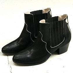 Patricia Blanchet boots Bullit noir shiny