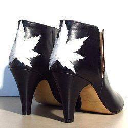 Patricia Blanchet boots Kaktus cuir noir / white