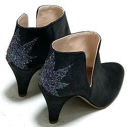 Patricia Blanchet boots Kaktus bleu metallisé