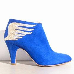 Patricia Blanchet boots Rusty daim bleu électrique