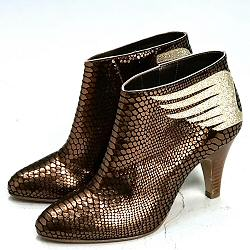 Patricia Blanchet boots Rusty python bronze