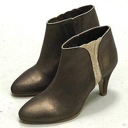 Patricia Blanchet boots Sublime bronze gold talon cuir