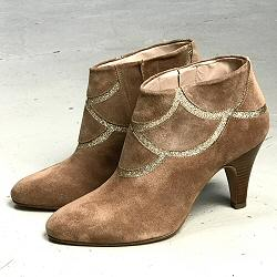 Patricia Blanchet boots X-OR daim sable et glitter gold