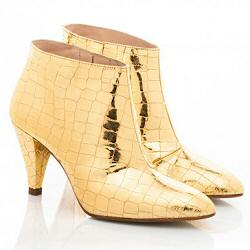Patricia Blanchet boots Sheen gold