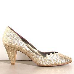 Patricia Blanchet escarpins Caipirinha gold glitter