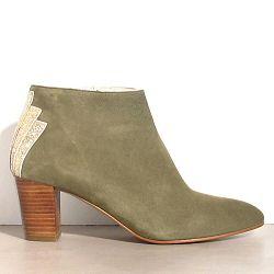 Patricia Blanchet boots Fabuleuse daim kaki