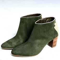 Patricia Blanchet boots Fabuleuse daim vert anglais