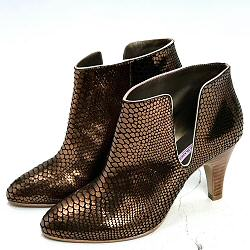 Patricia Blanchet boots Fifty-Five python bronze