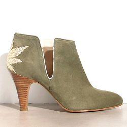 Patricia Blanchet boots Kaktus daim kaki