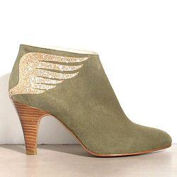 Patricia Blanchet boots Rusty daim kaki