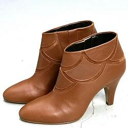 Patricia Blanchet boots X-OR cuir caramel vintage