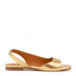 Rivecour sandales 51 gold cuir craquelé