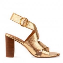 Rivecour sandales 96 gold cuir craquelé
