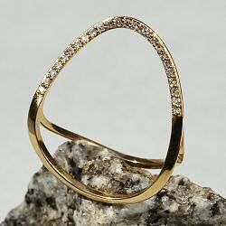 Sansoeurs bague Wake ring or jaune 18k