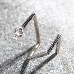 Sansoeurs boucle solo diamant or blanc 18k Big Z 4 griffes