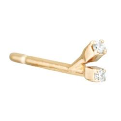 Sansoeurs boucle solo Two Sparks or 18k et diamant