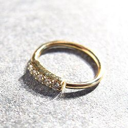 Sansoeurs boucle solo mini bangle 5 diamant or jaune 18k hugger