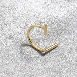 Sansoeurs boucle piercing Double T or 18k