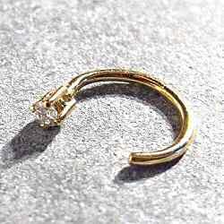 Sansoeurs boucle solo diamant or jaune 18k - 4 griffes