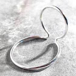 Saskia Diez Wire earcuff double argent 925