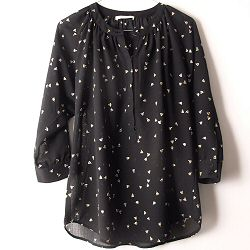 Sessun blouse Airlines sky night noir