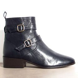 Sessun bottines Kan cuir noir
