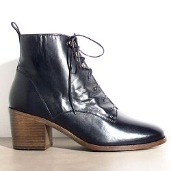 Sessun bottines à lacets Redmond cuir noir