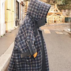 Sessun cape Rocksota checks tartan