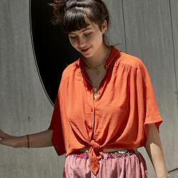 Sessun chemise rouge Alfassa mandarin red
