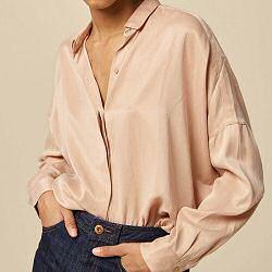 Sessun chemise Lady D rose poudre