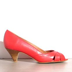 Sessun escarpins Esteban cuir rouge