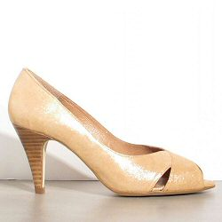 Sessun escarpins Princesse camel shiny