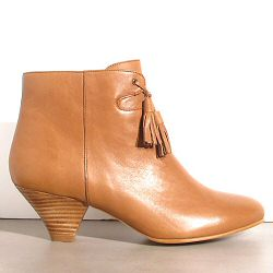 Sessùn boots Anita pompons cuir golden brown