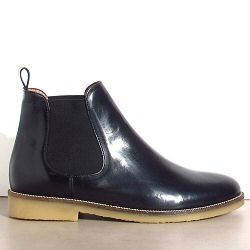 Sessun boots Jim Lane cuir noir