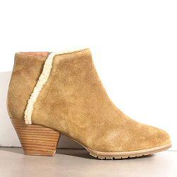 Sessun boots Salar daim gold fourré
