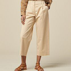 Sessun pantalon Edo large beige