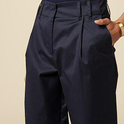 Sessun pantalon Edo large marine