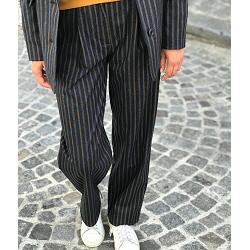 Sessun pantalon Pablo carbone rayure tennis