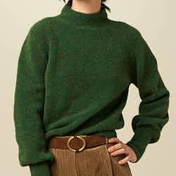 Sessun pull col montant Loli vert irish green